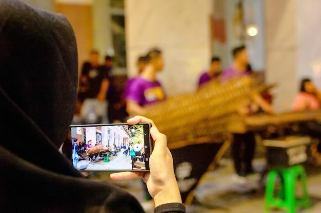 Malioboro straße, yogyakarta - indonesien Premium Fotos