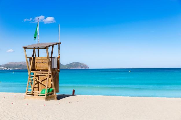 Mallorca kann picafort-strand in alcudia-bucht majorca Premium Fotos