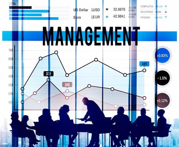Management-organisations-manager, der konzept behandelt Kostenlose Fotos
