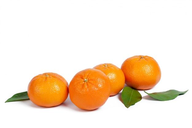 Mandarin isoliert Premium Fotos