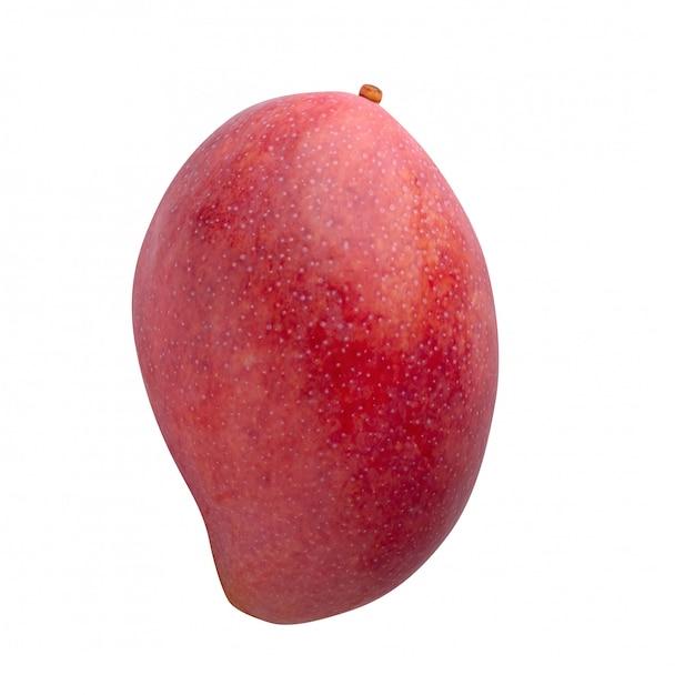 Mangofrucht lokalisiert auf einem weißen hintergrund Premium Fotos