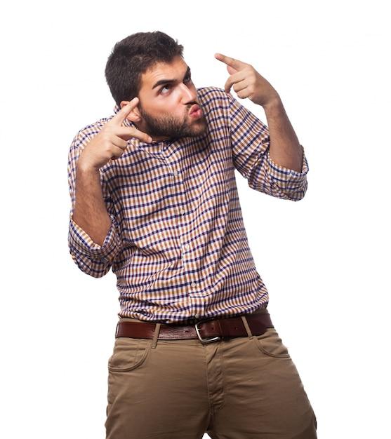 Mann erfolg unglücklich gestik hintergrund Kostenlose Fotos