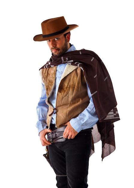 Mann im fernen westen Premium Fotos