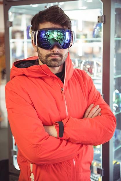 Mann in skibrille Kostenlose Fotos