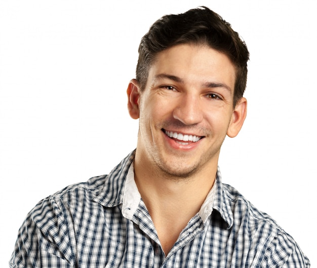 Mann, isoliert auf weiss Premium Fotos