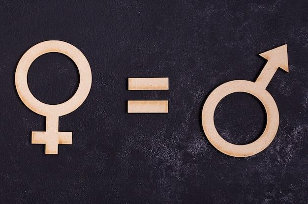 Manngeschlechtssymbole entsprechen weiblichem geschlechtssymbol Kostenlose Fotos