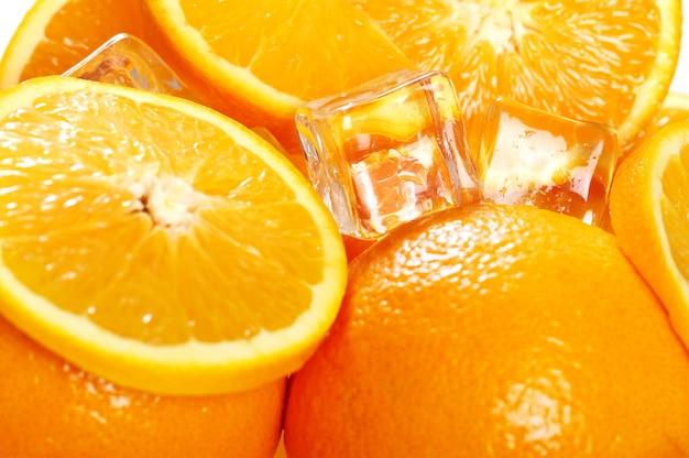 Marco von frischen orangen Kostenlose Fotos