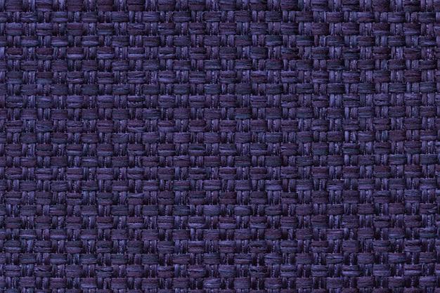Marineblauer textilhintergrund mit karomuster, struktur des gewebemakros, Premium Fotos