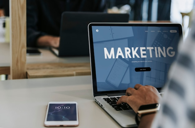 Marketingabteilung Premium Fotos
