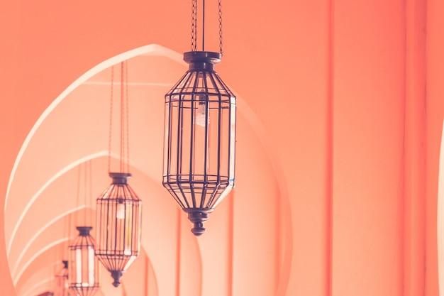 Marokkanische architekturart der weinleselampe Kostenlose Fotos