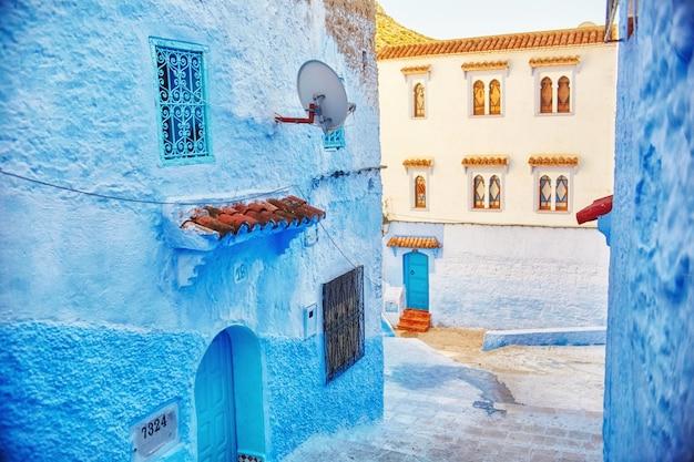 Marokko ist die blaue stadt der blauen farbe chefchaouen Premium Fotos