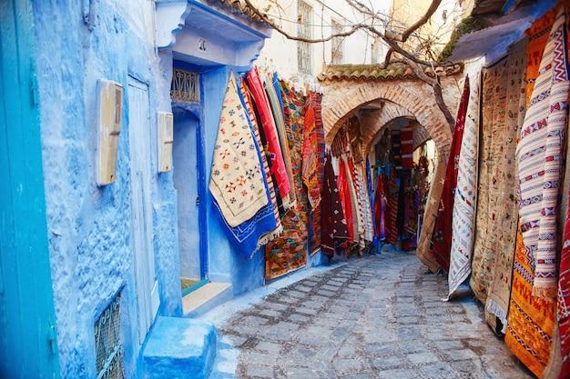 Marokko ist die blaue stadt von chefchaouen Premium Fotos