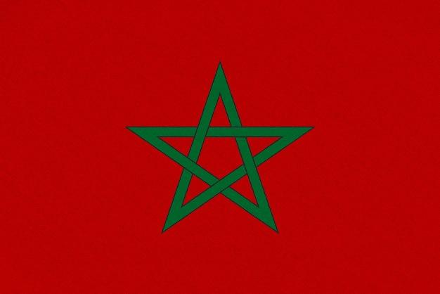 Marokko stoffflagge Premium Fotos