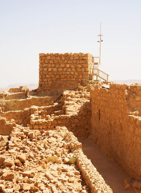 Masada, sommertag Premium Fotos