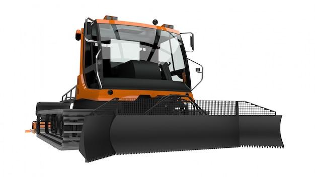 Maschine für das löschen der skisteigungen auf einem weiß lokalisierten hintergrund. 3d-rendering. Premium Fotos