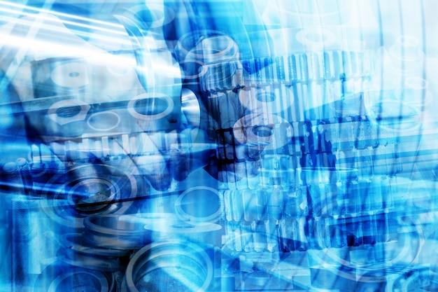 Mechanisch mit blauen formen Kostenlose Fotos