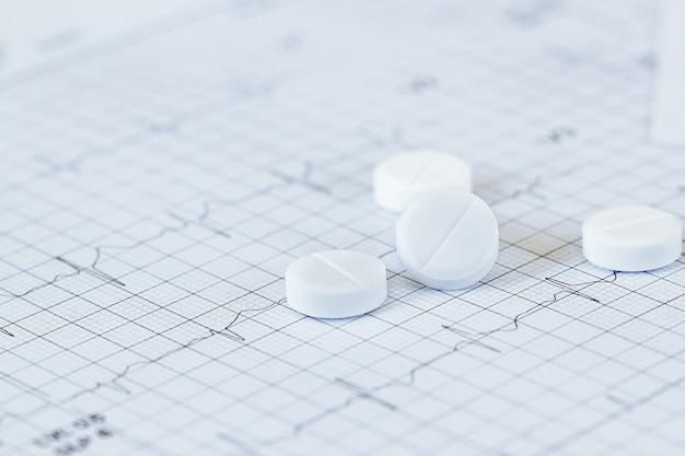 Medizin des kardiologen und nitroglycerins bei der diagnose des patientenpapiers zur überprüfung der herzfrequenz. Premium Fotos