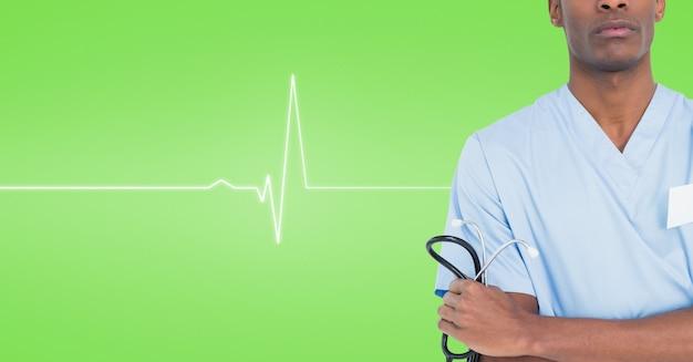 Medizinische versorgung ruft die arme verschränkt stilvoll mit Kostenlose Fotos