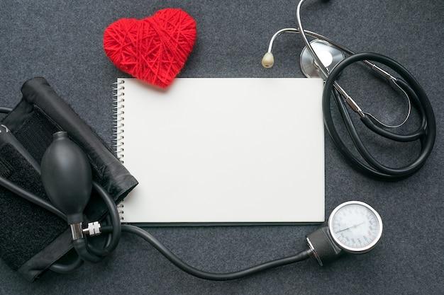 Medizinisches muster lag flach Premium Fotos