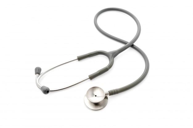 Medizinisches stethoskop auf weißem hintergrund. Kostenlose Fotos