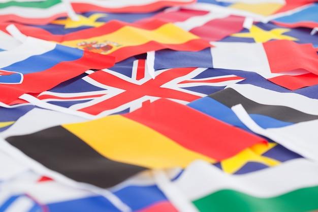 Mehrere länderflaggen Premium Fotos