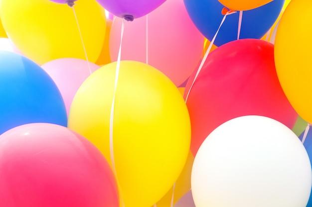 Mehrfarbige ballone Premium Fotos