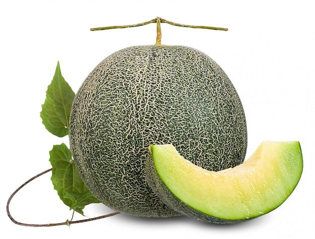 Melone getrennt auf weiß mit ausschnittspfad Premium Fotos