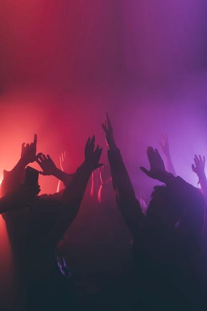 Menge im nachtclub Premium Fotos