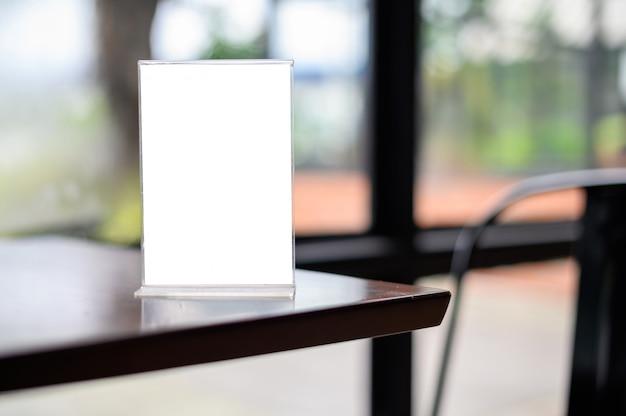 Menü frame zeltkarte Premium Fotos