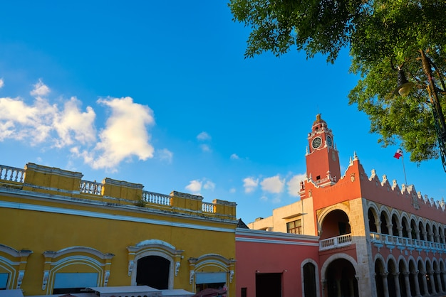 Mérida-stadt rathaus von yucatan mexiko Premium Fotos