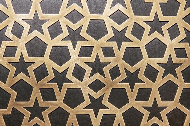 Metall dekoratives muster an der wand Premium Fotos