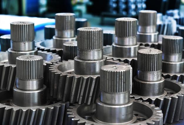 Metallgetriebe in fabriken Premium Fotos