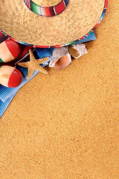 Mexikanischer strand hintergrund Premium Fotos