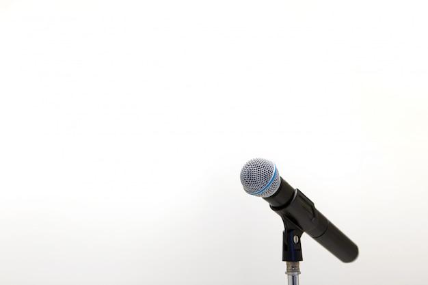 Mikrofon auf dem ständer Premium Fotos