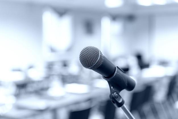 Mikrofon im auditorium Premium Fotos