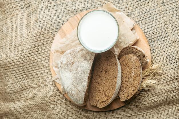 Milch- und backwaren Premium Fotos