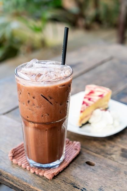 Milchshake aus gefrorener schokolade Premium Fotos