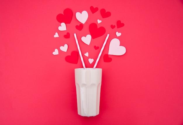 Milchshake für zwei - st. valentine concept Kostenlose Fotos