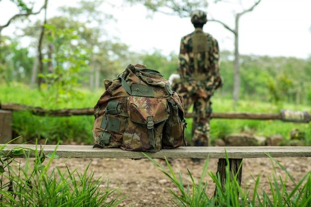 Militärrucksack Premium Fotos