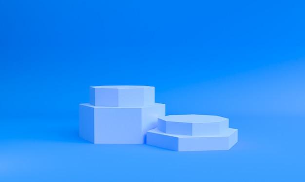 Minimale art der geometrischen formszene, wiedergabe 3d. Premium Fotos