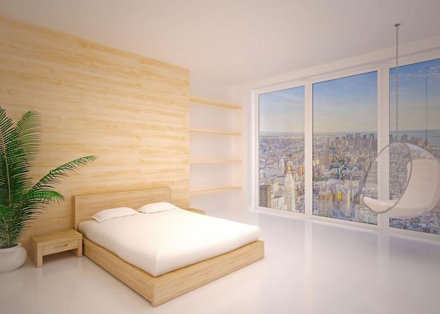 Minimaler innenraum. modernes interieur des schlafzimmers Premium Fotos