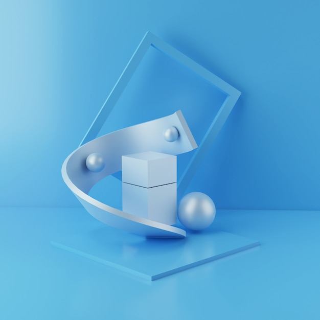 Minimales podium und leere vitrine, shop-display oder blank-produktstand Premium Fotos