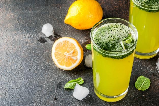 Minze masala soda cocktail Premium Fotos