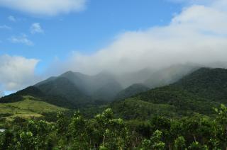 Misty mountain, aurora Kostenlose Fotos