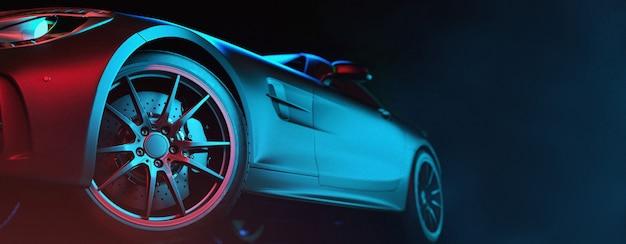 Moderne autos stehen im atelierraum. Premium Fotos