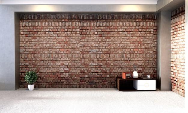Moderne innenarchitektur im loft-stil. 3d-rendering Premium Fotos