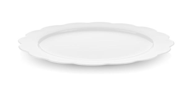 Moderne keramikplatte auf weißer wand Premium Fotos