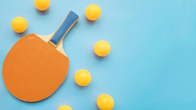 Moderne ping-pong-komposition Kostenlose Fotos