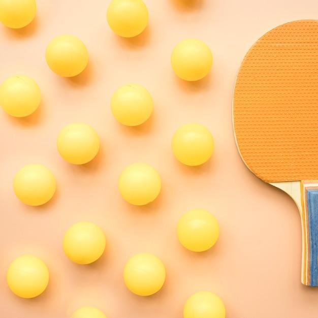 Moderne sportkomposition mit ping-pong-elementen Kostenlose Fotos