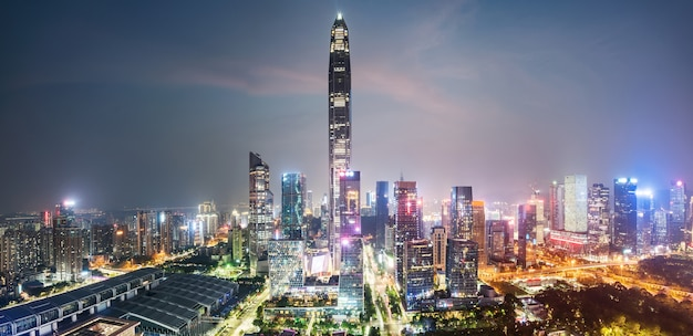 Moderne städtische architekturlandschaft in shenzhen, china Premium Fotos